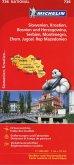 Michelin Karte Slowenien, Kroatien, Bosnien und Herzegowina, Serbien, Montenegro, Ehem. Jugosl. Rep. Mazedonien