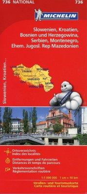Michelin Karte Slowenien, Kroatien, Bosnien und...