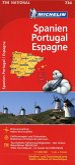 Michelin Karte Spanien / Portugal; Espagne, Portugal