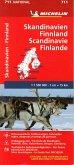 Michelin Karte Skandinavien - Finnland; Scandinavie, Finland