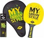 Donic-Schildkröt 788485 - Tischtennis-Set My Urban Style, Geschenkset, 1 Schläger, 3 Bälle, Schlägerhülle