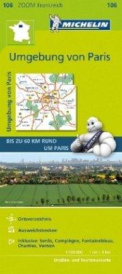 Michelin Karte Paris und Umgebung