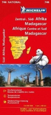 Michelin Karte Zentral-, Süd-Afrika, Madagaskar; Afrique Centre et Sud, Madagascar