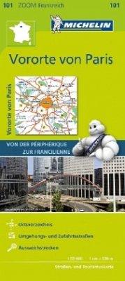 Michelin Karte Vororte von Paris