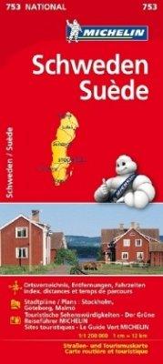 Michelin Karte Schweden; Suède