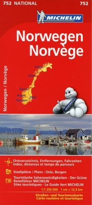 Michelin Karte Norwegen; Norvege