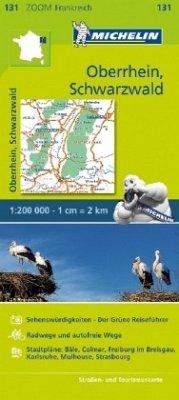 Michelin Karte Oberrhein, Schwarzwald; Alsace, Forêt Noire