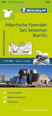 Michelin Karte Atlantische Pyrenäen, San Sebastian, Biarritz; Pays Basque, Nord de la Navarre