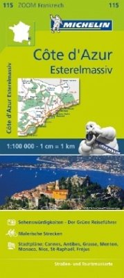 Michelin Karte Côte d'Azur - Esterelmassiv; Cote d' Azur, Massif de l' Esterel