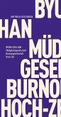 Müdigkeitsgesellschaft Burnoutgesellschaft Hoch-Zeit (eBook, ePUB)