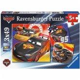 Ravensburger 08001 - Disney Cars, Abenteuer auf der Straße, Puzzle, 3 X 49 Teile