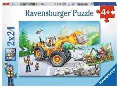 Ravensburger 07802 - Bagger und Waldtraktor, Puzzle 2 X 24 Teile