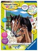 Ravensburger 28326 - Malen nach Zahlen, Pferd mit Fohlen