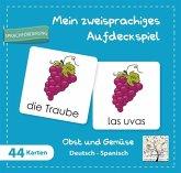 Mein zweisprachiges Aufdeckspiel, Obst und Gemüse Deutsch-Spanisch (Kinderspiel)