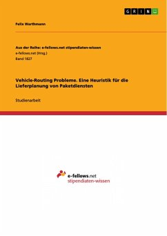 Vehicle-Routing Probleme. Eine Heuristik für die Lieferplanung von Paketdiensten