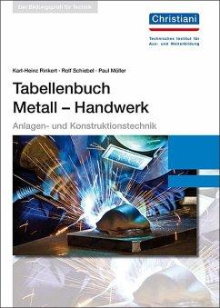 Tabellenbuch Metall - Handwerk - Rinkert, Karl-Heinz; Schiebel, Rolf; Müller, Paul