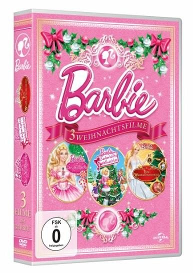 barbie 3 weihnachtsfilme 3 discs film auf dvd. Black Bedroom Furniture Sets. Home Design Ideas
