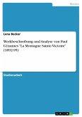 Werkbeschreibung und Analyse von Paul Cézannes