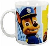 United Labels 0121979 - Paw Patrol Kaffeetasse Chase, Marshall und Rubble, 320 ml, Porzellan