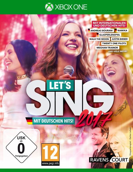 let 39 s sing 2017 inkl deutschen hits xbox one spiel. Black Bedroom Furniture Sets. Home Design Ideas