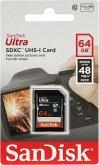 SanDisk Ultra SDXC UHS-I 64GB 48MB/s Cl. 10 SDSDUNB-064G-GN3IN