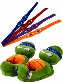 United Labels 0118492 - Turtles, Tierhausschuhe mit 4Binden mit 4 Binden zur individuellen Gestaltung