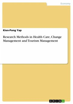 Research Methods in Health Care, Change Management and Tourism Management