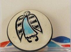 Handschmeichler Engel natur hellblau, rund