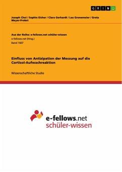 Einfluss von Antizipation der Messung auf die Cortisol-Aufwachreaktion - Gerhardt, Clara;Meyer-Probst, Greta