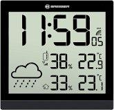 Bresser TemeoTrend JC schwarz LCD Wetter-Wanduhr