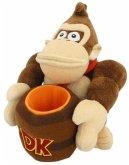 Nintendo - Donkey Kong Plüsch mit Fass, ca. 23 cm