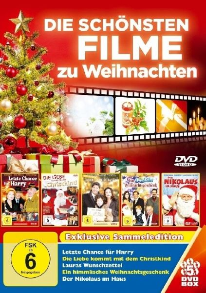 die sch nsten filme zu weihnachten 5 dvds letzte chance. Black Bedroom Furniture Sets. Home Design Ideas