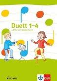 4 Audio-CDs zum Liederbuch 1.-4. Schuljahr / Duett - Neubearbeitung 2016