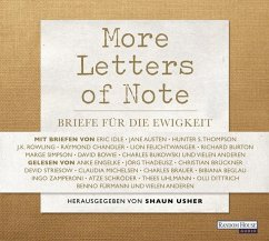 More Letters of Note, 3 Audio-CDs - Shaun Usher