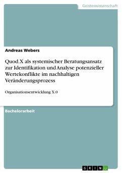 Quod.X als systemischer Beratungsansatz zur Identifikation und Analyse potenzieller Wertekonflikte im nachhaltigen Veränderungsprozess