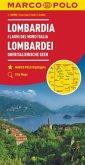MARCO POLO Karte Lombardei, Oberitalienische Seen 1:200 000; Lombardia I Laghi Del Nord Italia / Lombardy North Italian