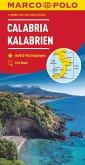 MARCO POLO Karte Kalabrien 1:200 000; Calabria; Calabre