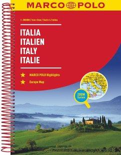 MARCO POLO ReiseAtlas Italien 1:300 000 - Marco Polo