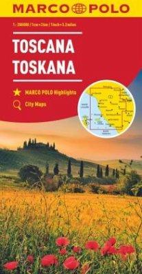 MARCO POLO Karte Toskana 1:200 000; Toscana / Tuscany / Toscane