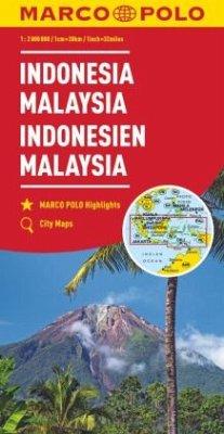 MARCO POLO Kontinentalkarte Indonesien, Malaysi...