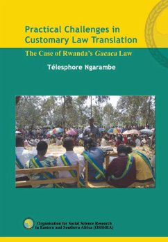 9789994455898 - Ngarambe, Télesphore: Practical Challenges in Customary Law Translation - Book