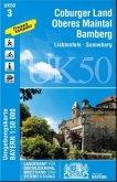 Topographische Karte Bayern Coburger Land Oberes Maintal - Bamberg