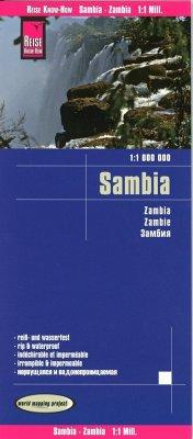 Reise Know-How Landkarte Sambia (1:1.000.000); Zambia / Zambie