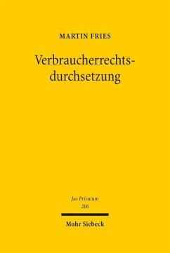 Verbraucherrechtsdurchsetzung (eBook, PDF) - Fries, Martin