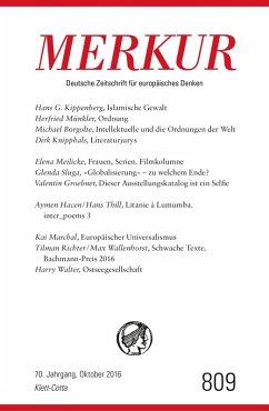 MERKUR Deutsche Zeitschrift für europäisches Denken - 2016-10 (eBook, ePUB)