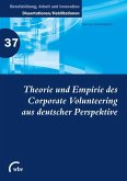 Theorie und Empirie des Corporate Volunteering aus deutscher Perspektive (eBook, PDF)