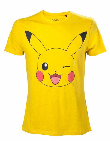 Pokémon T-Shirt -S- Pikachu in front, gelb