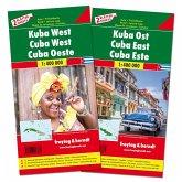Freytag & Berndt Auto + Freizeitkarte Kuba West und Ost, Autokarten Set, 2 Bl.