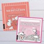 Malbuch Set für Erwachsene und Kinder: Meditation, Ruhe, Anti-Stress und Entspannung