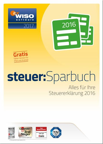 WISO steuer:Sparbuch 2017 (CD-ROM)